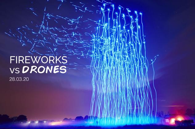 Fireworks vs Drones
