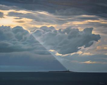 Dark Clouds over Coquet Island