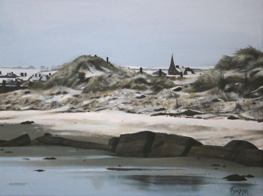 Alnmouth Beach in Snow 2