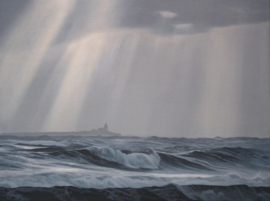 Coquet Island and Winter Waves