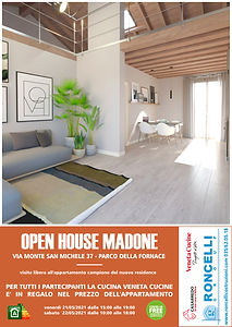 """MADONE OPEN HOUSE 21-22/05/2021 la cucina """"Veneta Cucine"""" è compresa nel prezzo dell'appartamento!"""
