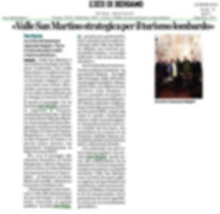 L'Eco di Bergamo del 22/03/2019