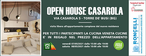 """CASAROLA OPEN HOUSE 07-08/05/2021 la cucina """"Veneta Cucine"""" è compresa nel prezzo dell'appartamento!"""