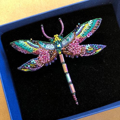 Amethyst Dragonfly Brooch