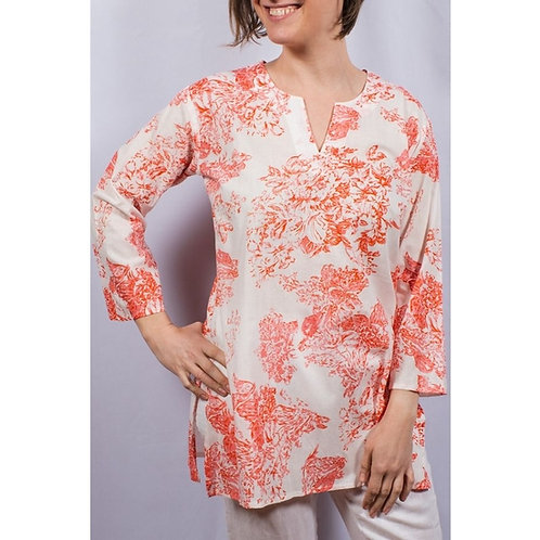 Floral Cotton Tunic
