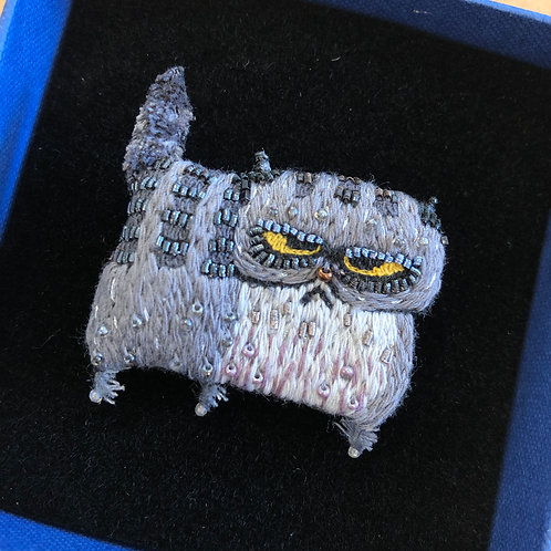 Grumpy Cat Brooch