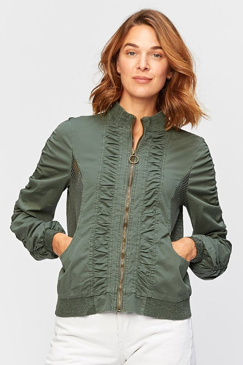 Forest Green Cotton Bomber