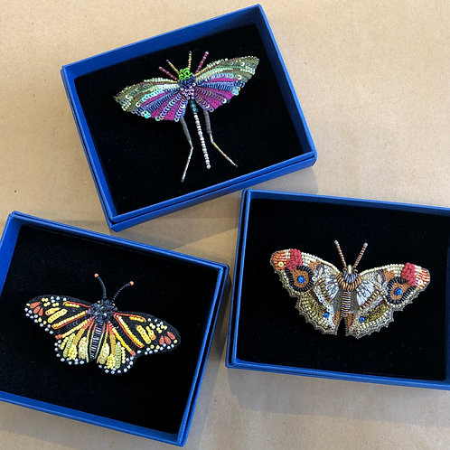 Embellished Pins, Winged Creatures