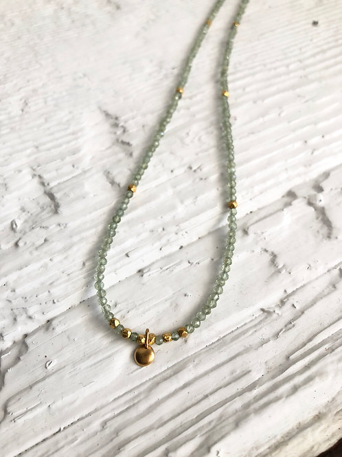 Peridot and Gold Necklace