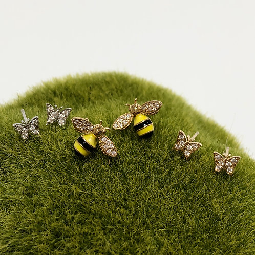 Sparkly Insect Post Earrings