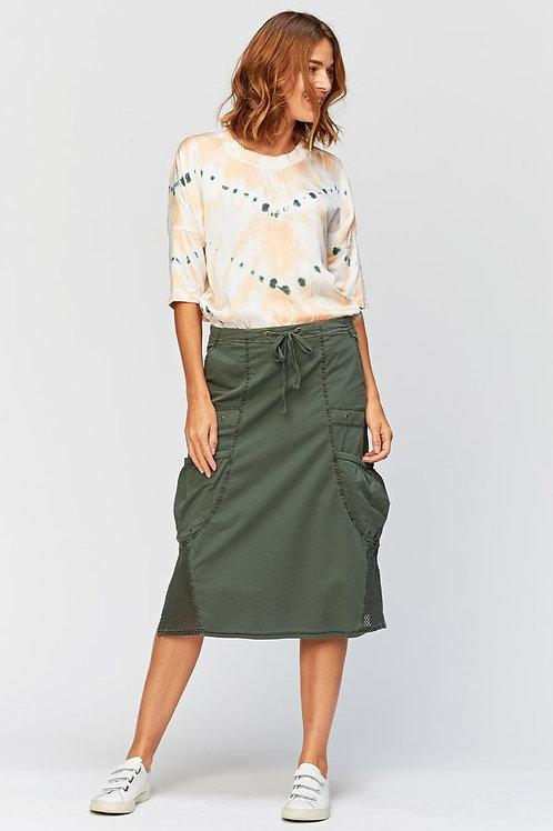 Forest Green Split Side Skirt