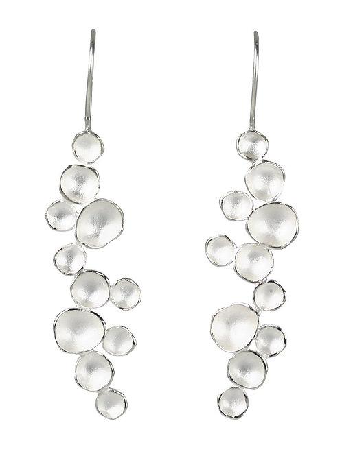 Milkway Pod Earrings, Sterling Silver