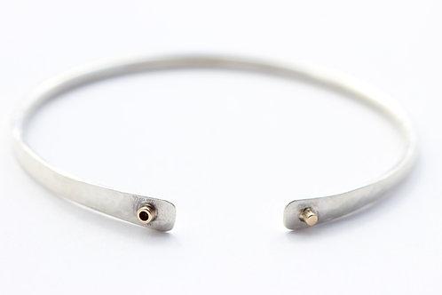 Sterling Silver Bracelet with 14K Beads