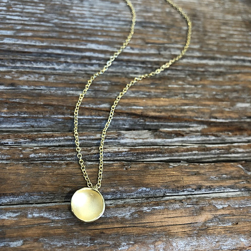 Gold Drop Pendant on Gold