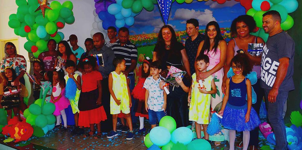 Festa de despedida marca encerramento do ano letivo 2019 do Projeto Creche Casulo