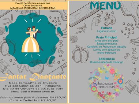 Ação Social Caravana de Luz (ASCL) promove jantar beneficente em outubro