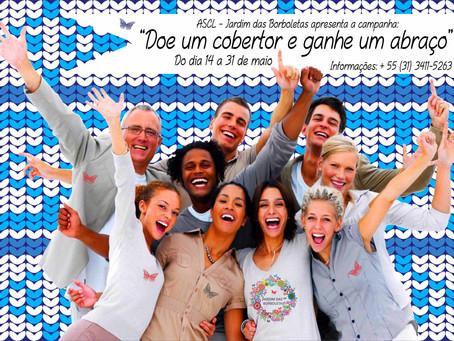 Campanha de arrecadação de cobertores da ASCL – Jardim das Borboletas é iniciada em Belo Horizonte