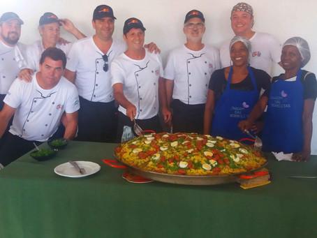 Ação Social Caravana de Luz promove primeira Paella Mineira beneficente do Jardim das Borboletas