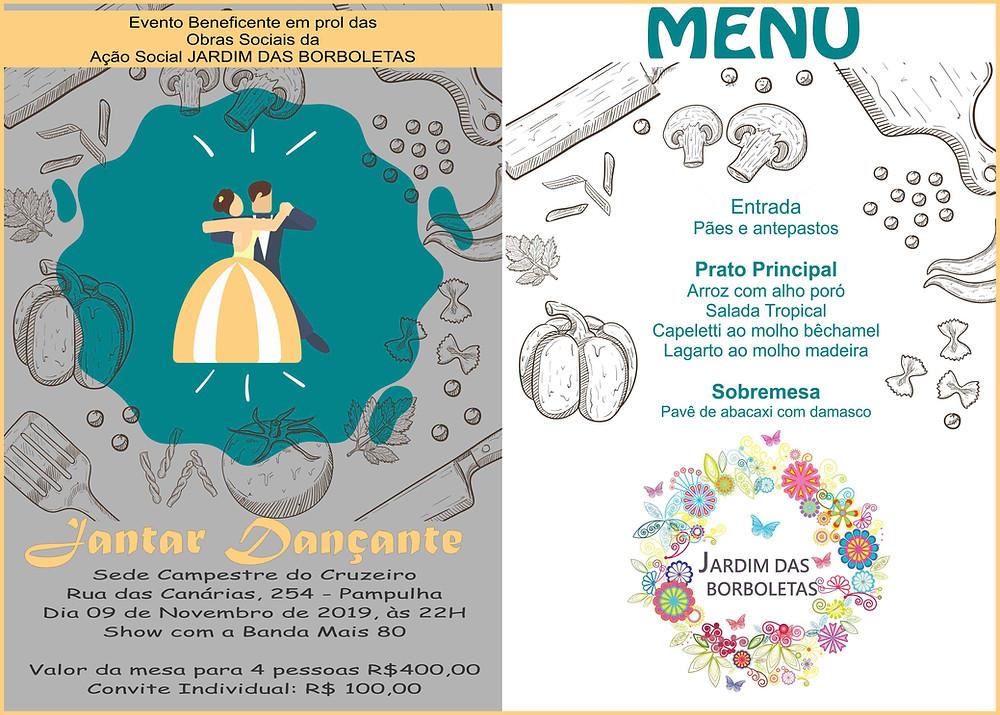 Jantar Dançante do Jardim das Borboletas 2019