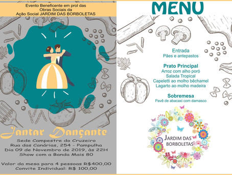 ASCL – Jardim das Borboletas promove Jantar Dançante em novembro