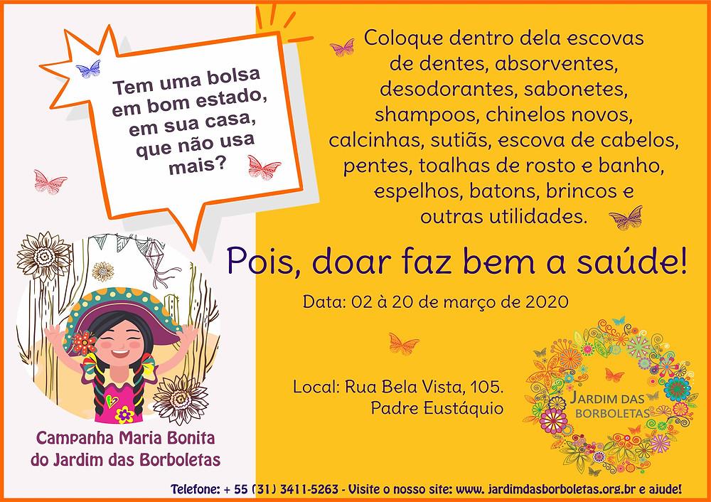 Campanha Maria Bonita do Jardim das Borboletas