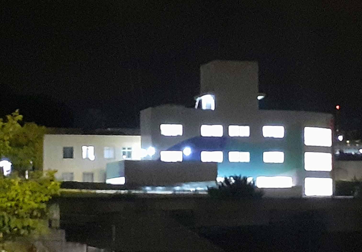 Vista ASCL iluminada
