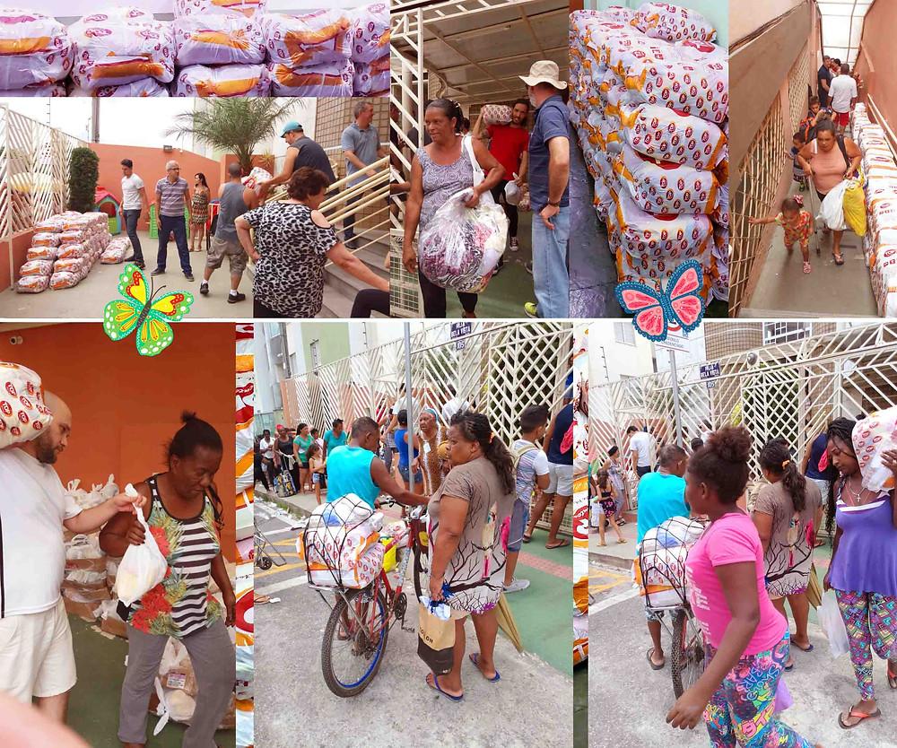 ASCL – Jardim das Borboletas levou assistência a várias famílias carentes em Belo Horizonte.