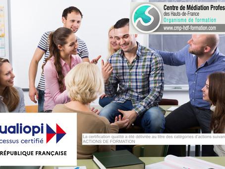 La Certification du Centre de Médiation Professionnelle des Hauts-de-France, c'est fait !