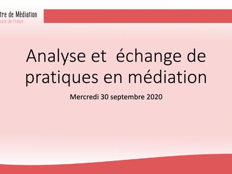 Analyse et échange de pratiques en #médiation @hautsdefrance