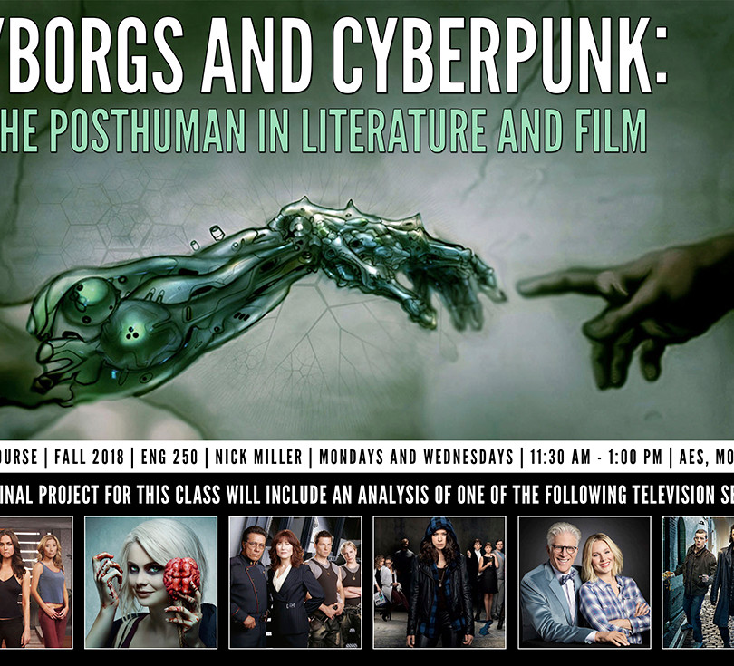 Cyborgs and Cyberpunk — Course Poster