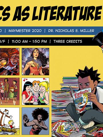 Comics as Literature — Course Poster