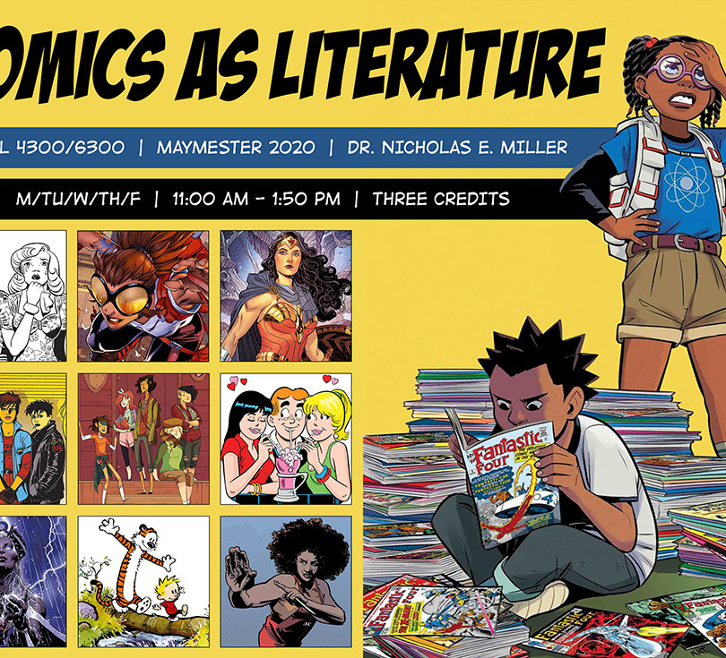 Comics as Literature — Course Poster