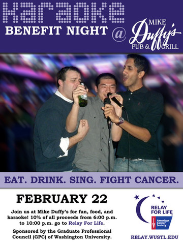 Karaoke Benefit Night — Event Poster
