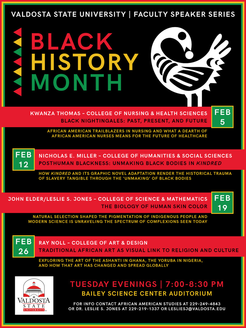 Black History Month — Event Poster