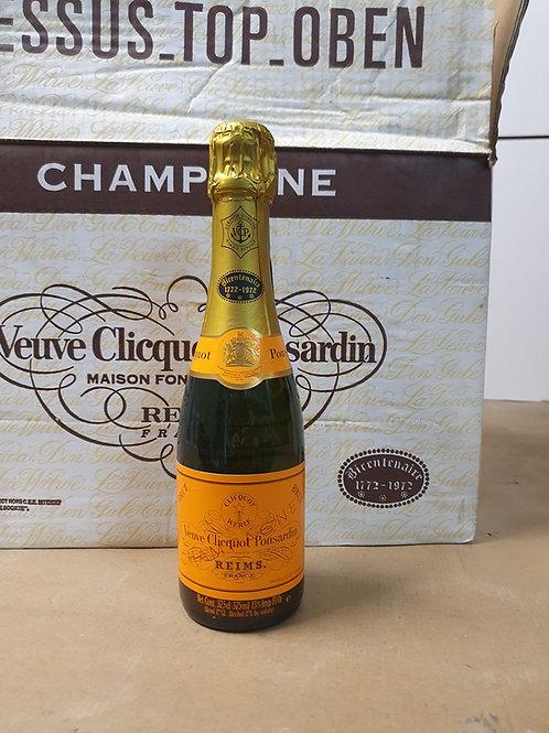 Veuve Clicquot Cuvée Bicentenaire (1772-1972) 1x24halves €45/unit