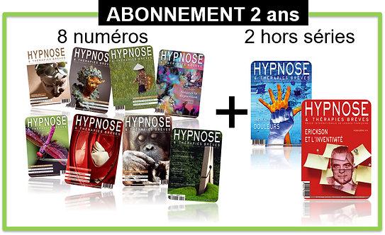 Abonnement 2 ans HORS FRANCE Hypnose & Thérapies Brèves
