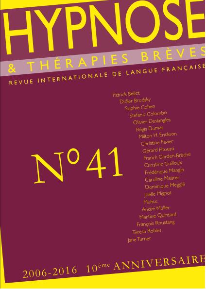 Hypnose & Thérapies brèves n°41
