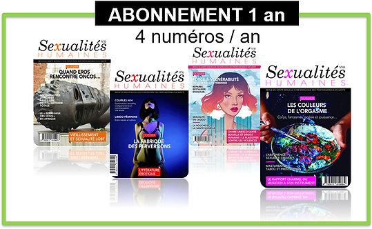 Abonnement 1 an HORS FRANCE Sexualités Humaines