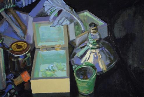 Brian Kelley, Dark Light Fossils, oil on