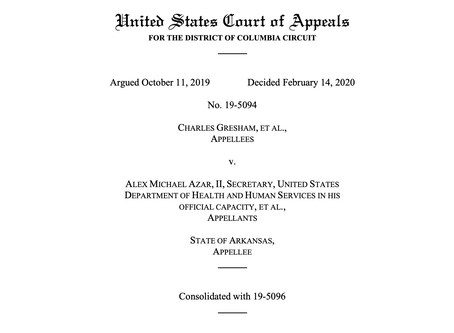 DC Circuit Court of Appeals Rejects Arkansas Work Requirements