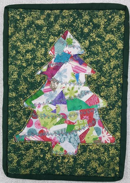Xmas Tree Crazy Applique Nov 2