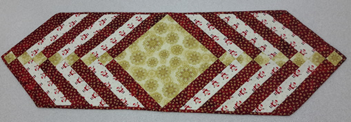 braided table runner red gold