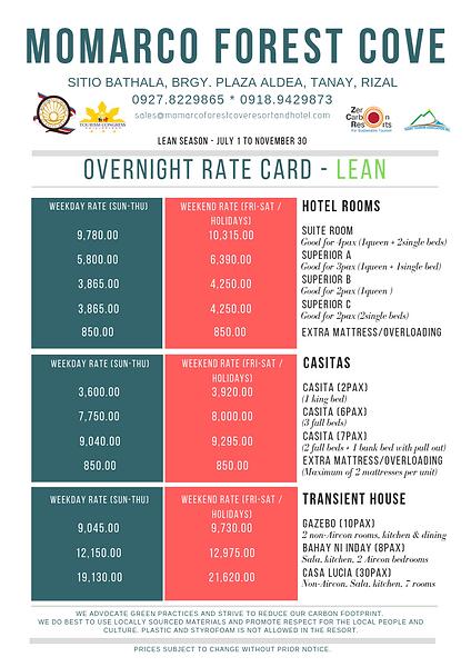 2019_Overnight Rate Card_Premium -LEAN (
