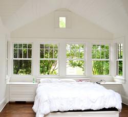 custom built-in storage bed and nightstands
