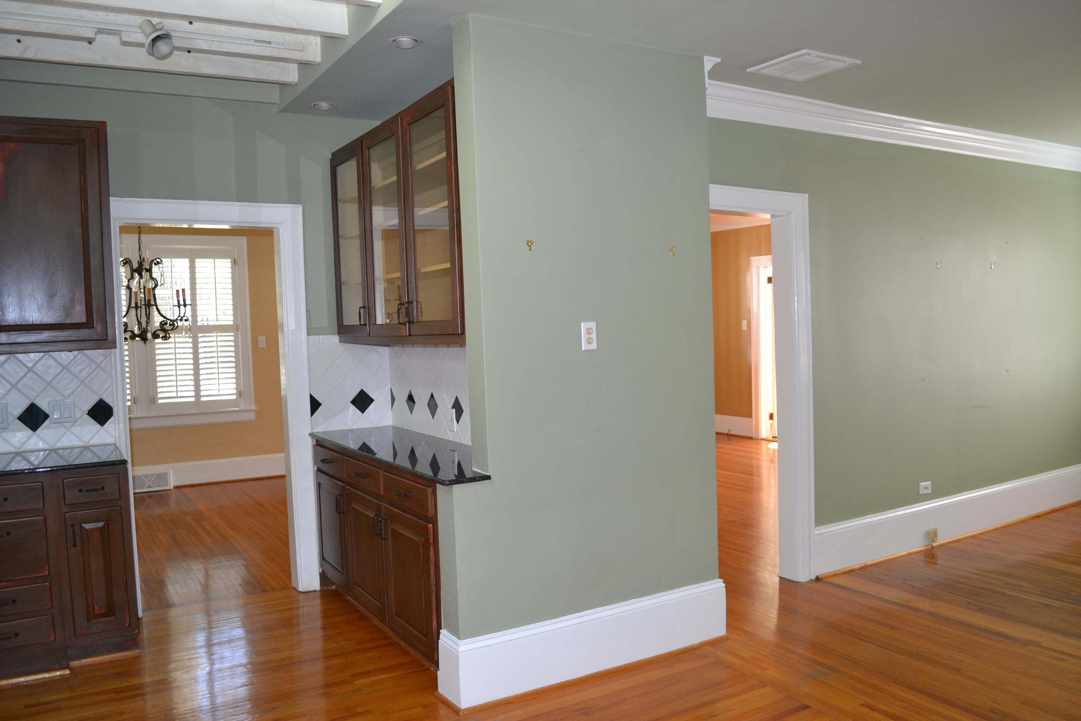 kitchen / den before