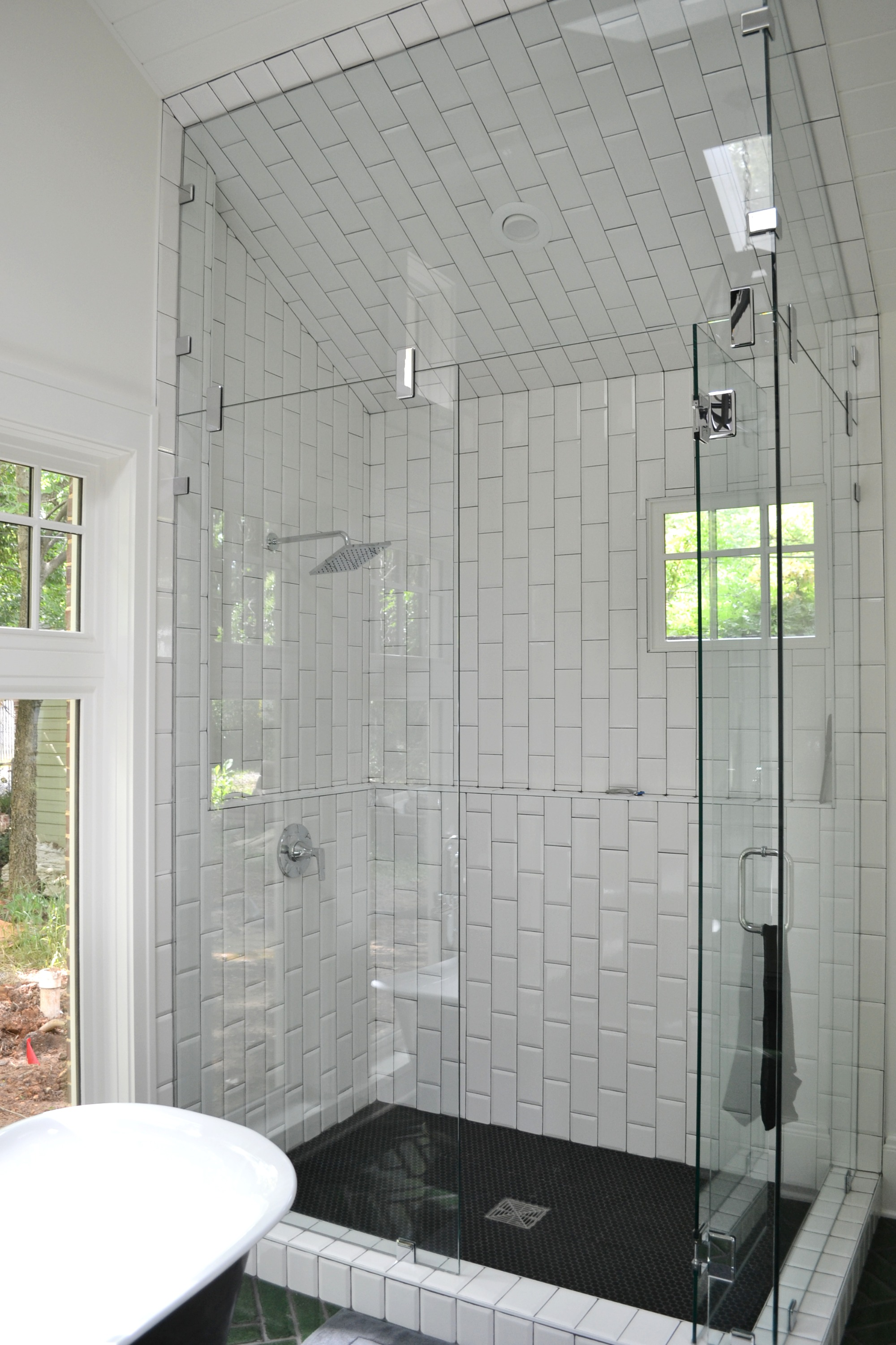 vaulted ceiling in shower