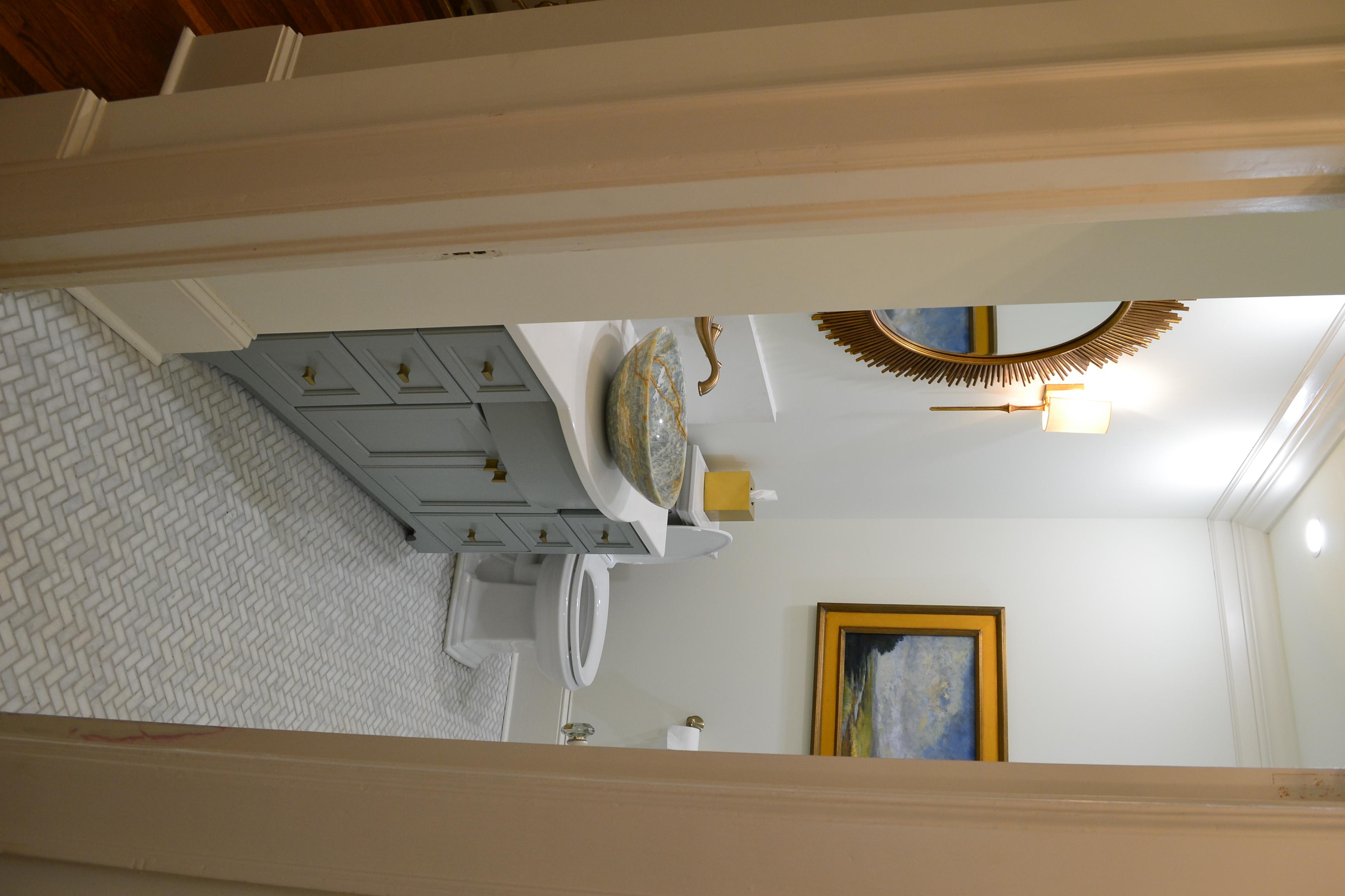 hall bath after