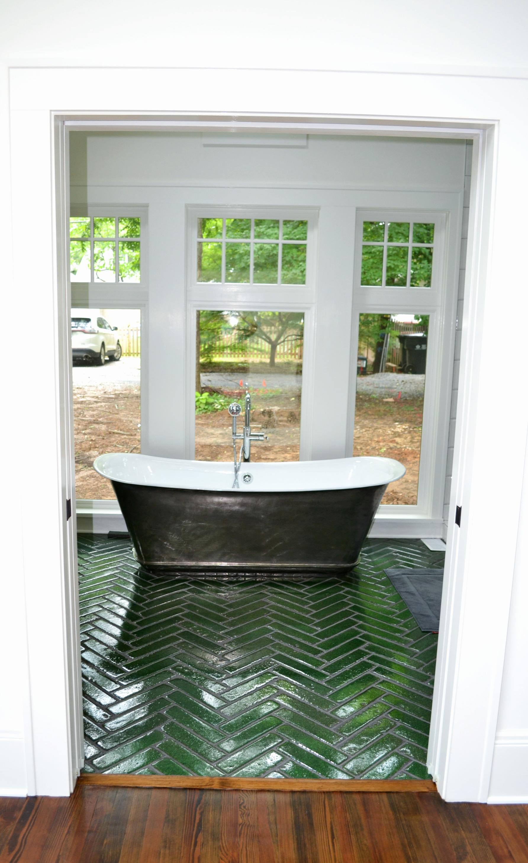 soaker tub onto future private yard