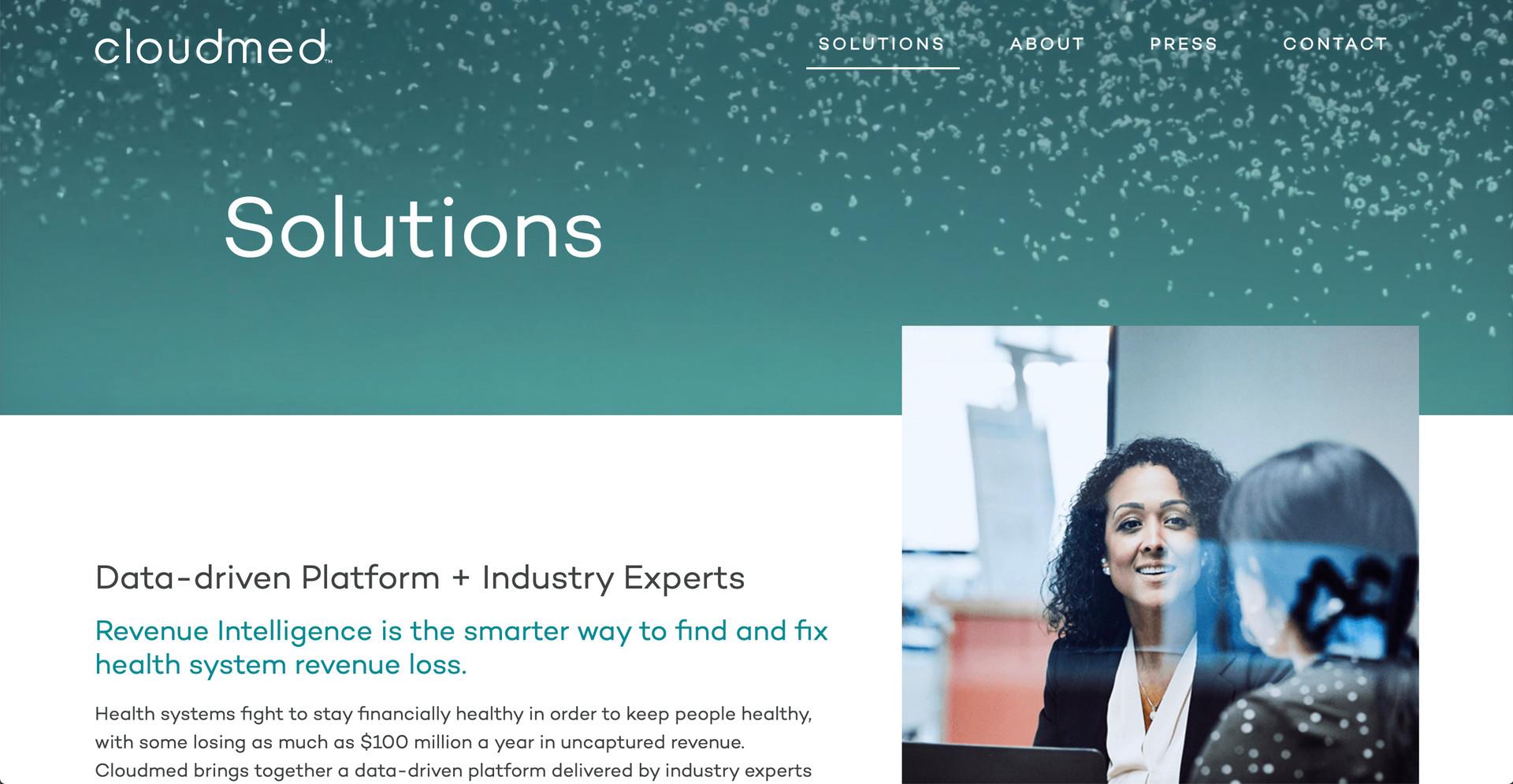 Cloudmed Website Screengrab_Solutions.jp