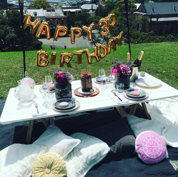 Surprise Birthday Picnic Spreads